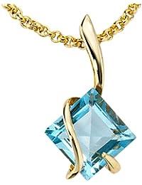 Colgante de oro 1 375 preciosos topacio Azul Colgante