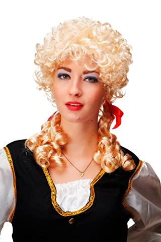 Party/Fancy Dress/Halloween Lady WIG colonial BAROQUE curls coils pigtails BRIGHT