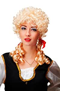 Carnaval, perruque, baroque, blond, boucles, tresses, style Marie Antoinette, Cosplay, gothique Lolita 3048-P02