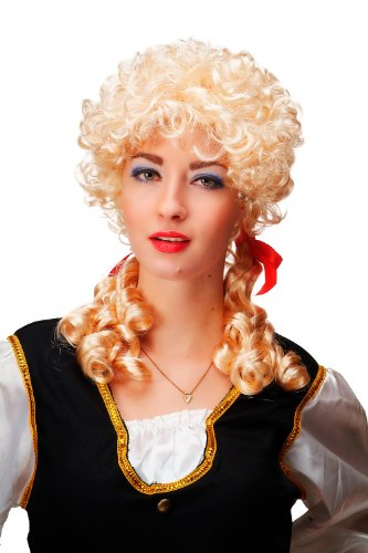 WIG ME UP Karneval Fasching Perücke Barock Blond Locken Zöpfe Marie Antoinette Cosplay Gothic Lolita ()