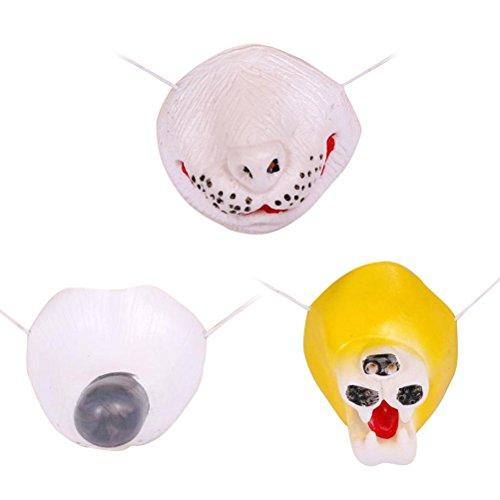 Amosfun 3 stücke Halloween Cosplay Requisiten Lustige Nase Streich Tier Nase Kostüm Kleid Party Zubehör (Hund + Kaninchen + Lion)
