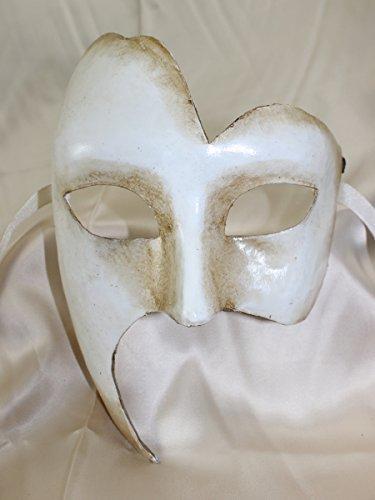 Herren Weiß Phantom der Oper Traditionelle Theater venezianischen Masquerade (Maske Designs Pappmaché)