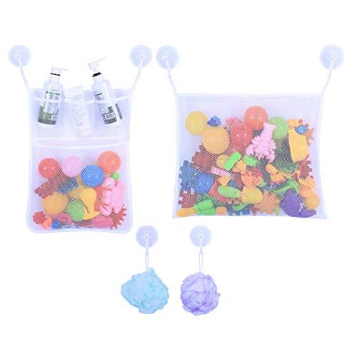 Organisator Lagerung Tasche (Joyibay 2 Stück Baby Bad Spielzeug Organisator Badewanne Mesh Tasche Hängende Lagerung Veranstalter)