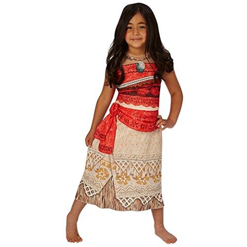 Original Disney Vaiana Kostüm für Kinder - Südsee Film Prinzessin 110 116 122 128 134 140