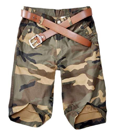 CuteRose Mens Camouflage Color Straight Leg Half Pants Combat Karate Pants Khaki 31 Old Navy Capri-jeans