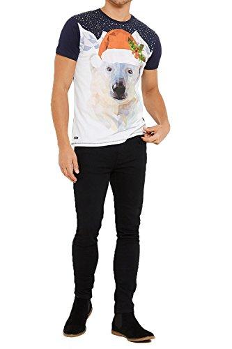 Threadbare Herren T-Shirt * Einheitsgröße MMV105-Navy
