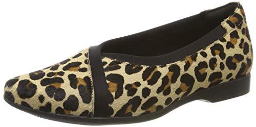 Clarks Un Darcey Ease, Mocasines para Mujer, Multicolor Leopard PRT Pony Leopard PRT Pony, 37.5 EU