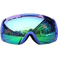 Gafas cómodas Invierno Nieve Esquiar Ciclismo Gafas Antipolvo Gafas antivaho Gafas de Sol UV400 a Prueba de Viento Proteger Gafas
