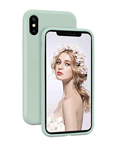 Imikoko Hülle für iPhone XR Hülle Matt Silikon Dünn Handyhülle Stoßfest Slim Gummi Schutzhülle Kratzfest Case Cover mit Soft Microfaser Tuch Futter Kissen() Soft-touch-gummi