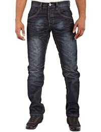 Designer Enzo jambe droite Jeans pour hommes- UK Tailles