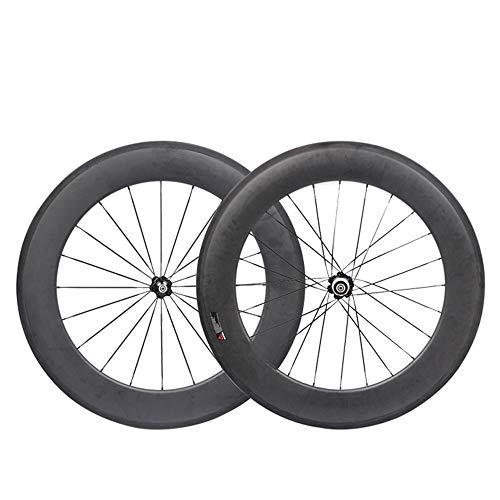 YGZXC Ruote Bici da Corsa Set Fibra di Carbonio 700C 88mm Ibrido Power Racing Set Ruote Bici da Strada copertoncino 23mm Larghezza Shimano 8/9/10 / 11S