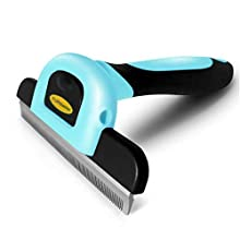 Deshedding Tool & Pet Grooming Brush for Small, Medium & Large Dogs, Cats & Horses, with Short to Long Hair. Reduces Shedding in Minutes.