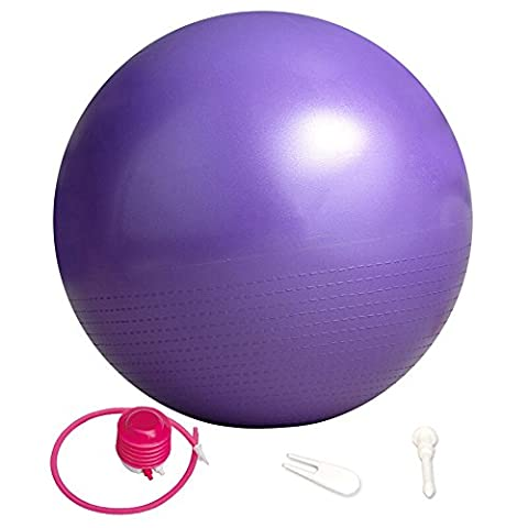 Pilates Massage Ball Stretch Yoga Balance Ball Professionelle Fitness Ball 65cm PVC Super Starke Lager Kraft 2000lbs Verdickung Explosionsgeschützte Fitness Ball Schwangere Frauen Hebammen Birthing Ball in vier Farben ( Color : Purple