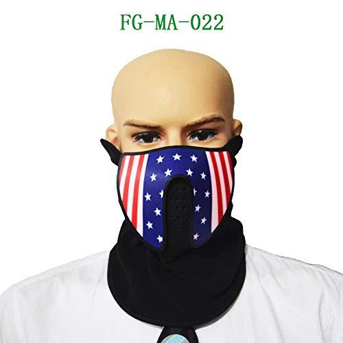 Algal mud TAOtTAO Halloween Sound Reaktive Half Face LED Leuchten Maske Dance Rave EDM Plur Party (F)
