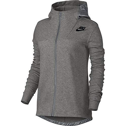 Nike W NSW AV15 Cape FLC - Umhang Grau - M - Damen