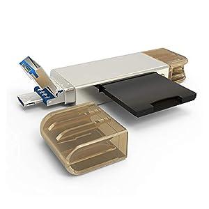 Balock Schuhe 3-in-1-Multifunktionskartenleser,USB 3.0-Speicherkartenleser, Flash-Adapter, Micro SD OTG AD