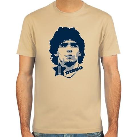 SpielRaum T-Shirt Diego Armando Maradona ::: Farbauswahl: skyblue, sand oder weiß ::: Größen: S-XXL :::