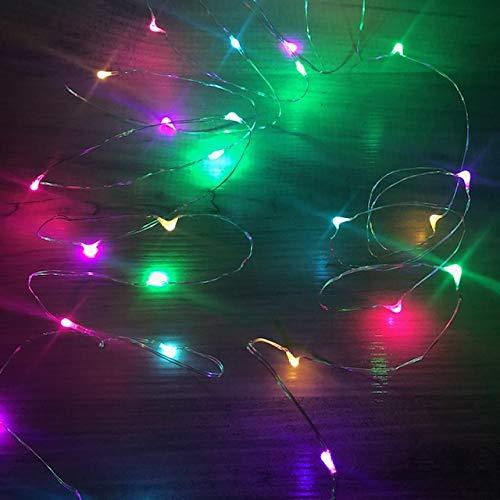 Vine Fairy Lights, 30 LEDs pro Drahtsaite, ideal für kleine Weihnachtsbaum, Vasen oder Displays - MEHRFARBEN