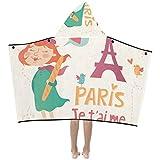 Paris französische romantische Liebe weiche warme Baumwolle gemischt Kinder verkleiden sich mit...