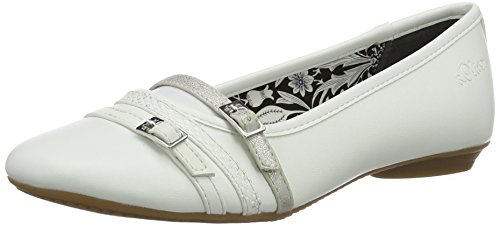 100 22110 oliver Branco branco Fechada S Senhoras Bailarinas E045qgxw