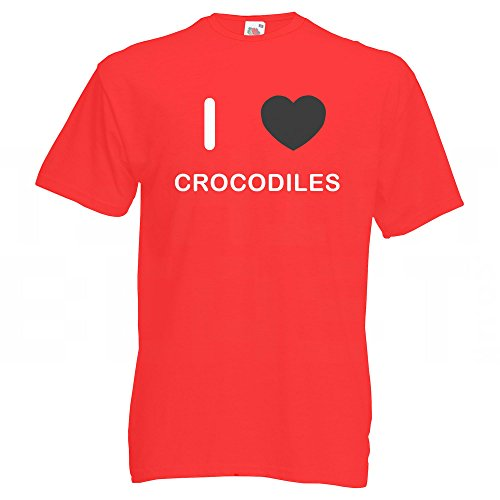 I Love Crocodiles - T-Shirt Rot