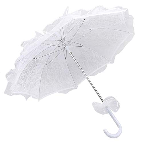 Parasol Flower Girls Bridal Wedding Party Sun Umbrella Photography Prop Decoration Women Favor - Black Suit Party Clothes Sets Prom Wedge Mesh 2019 Pant White Sandals Mer ()