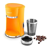 Mini macchina da caffè ideale per single e studenti o per la preparazione rapida del caffè in ufficio. Elemento riscaldante di 420ml per un ottimo caffè fragrante in soli 4,5 minuti, filtro permanente in nyolon in dotazione. Ideale per un caf...