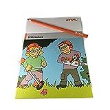 Stihl Malbuch, Malheft A4 + Stihl Schreiner Bleistift