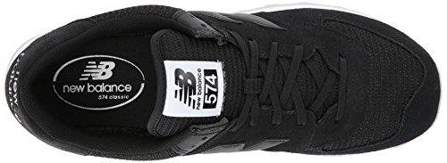 New Balance ML574 D, Baskets mode homme Black Caviar/White