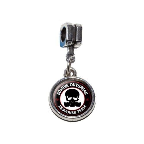 Zombie Outbreak Response Team Rot auf Schwarz–Gasmaske Skull -