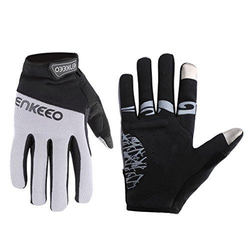 Enkeeo Cycling Gloves Full Finger (L)