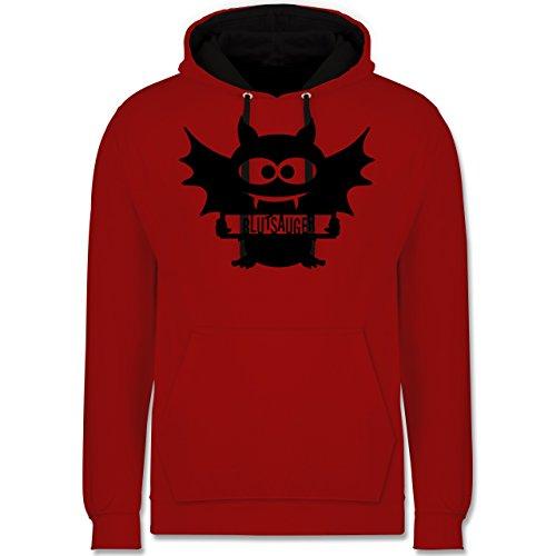 Shirtracer Halloween - Fledermaus - M - Rot/Schwarz - JH003 - Kontrast Hoodie