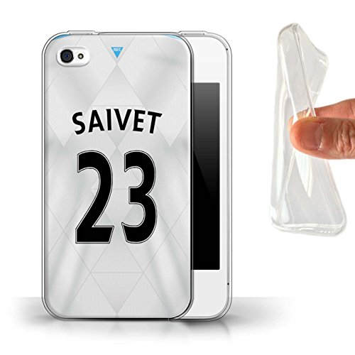 Offiziell Newcastle United FC Hülle / Gel TPU Case für Apple iPhone 4/4S / Pack 29pcs Muster / NUFC Trikot Away 15/16 Kollektion Saivet