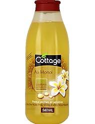 Cottage - Douche huile précieuse Extra Nourrissante, au Monoï, Peaux sèches et sensibles - Le flacon de 560ml...