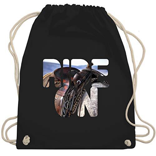 ide on Pferd reiten - Unisize - Schwarz - WM110 - Turnbeutel & Gym Bag ()