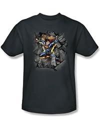 Superman - Break On Through des hommes T-shirt au fusain -