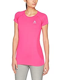 Odlo Essentials – Camiseta de Manga Corta para Mujer, Mujer, Color Pink GLO,