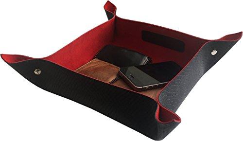 Handgefertigte Lederschale SNAKE 2 Large 21 x 21 cm - Taschenleerer, Schlüsselablage, PERSO