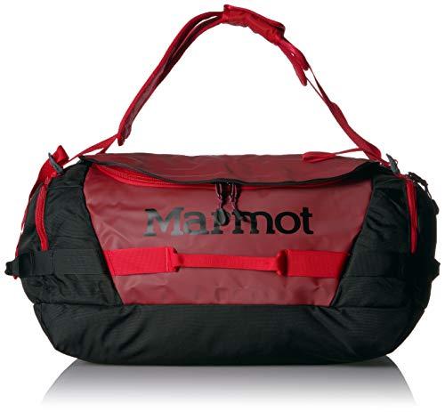 Marmot Long Hauler Duffel Bag Medium, Robuste Reisetasche, Sporttasche, Weekender, 50L Fassungsvermögen, Brick/Black -