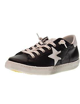 2 STAR scarpe junior sneakers basse 2SB 1005 NERO BIANCO