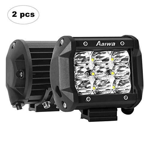 AAIWA Faro da Lavoro LED, 4 Pollici 27W Faretti a LED per Auto Barra LED Fuoristrada LED Pods con 9 LEDs per SUV ATV UTV Truck Barca, 2 Pezzi, 2 Anni di Garanz