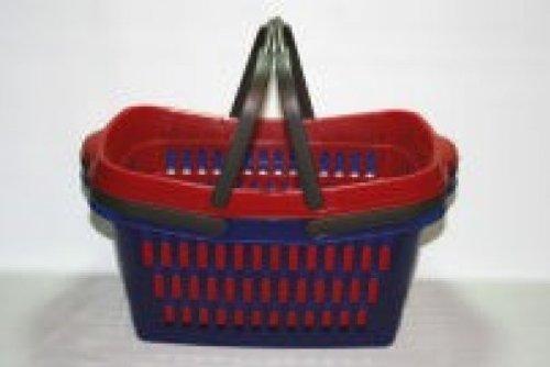Wäschekorb 60 x 37,5 x 28 cm mit Bügel / Einkaufskorb mit Bügel