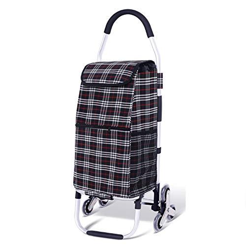 LGFV DREI Räder Aluminiumlegierung Einkaufswagen Removable Waschbar Rust Und Beständig Harness Design Mit Hohen Kapazität 50 Kg,Grau