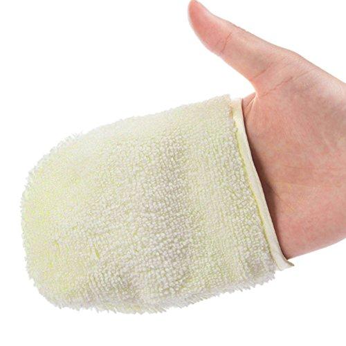 Cara guantes de limpieza facial Exfoliante Guante Limpieza Profunda Puff 1pc