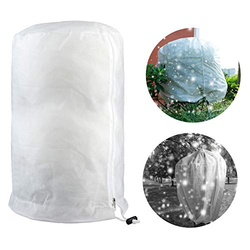 jycra - copertura invernale antigelo per piante, 3d, rotonda, antigelo, fodera in pile per fiori, arbusti, alberi
