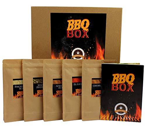 C&T BBQ Gewürze Set | 5 x 70 g erlesene Grillgewürze für Fleisch, Fisch, Gemüse & Meeresfrüchte + Rezepte | BBQ Rub mit 100% natürlichem Aroma & ohne Zusatzstoffe