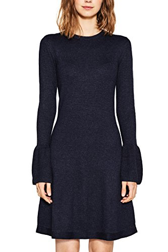 edc by ESPRIT Damen Kleid 997CC1E801, Blau (Navy 400), XX-Small