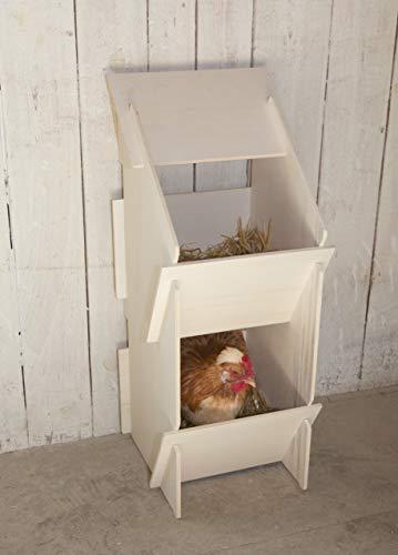 Kerbl 73005 Hühner Legenest aus Holz, unmontiert, 30 x 35 x 83 cm - 6