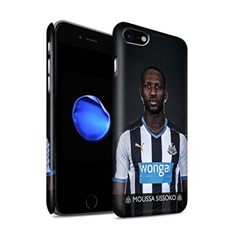 Offiziell Newcastle United FC Hülle / Matte Snap-On Case für Apple iPhone 7 / Mbemba Muster / NUFC Fussballspieler 15/16 Kollektion Sissoko