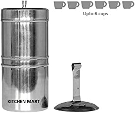 Kitchen Mart Stainless Steel South Indian Coffee Filter Size:9 (650ML) (6 cups)